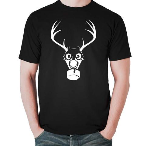 Gasmask Antler T-shirt Black