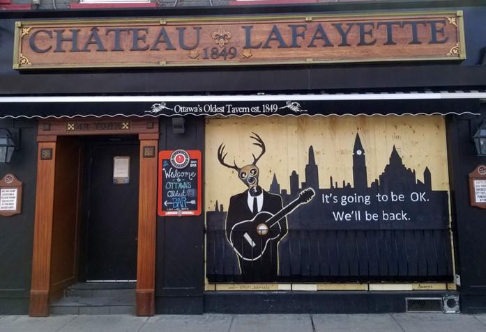 Lafayette Mural during COVID-19 by Adornato