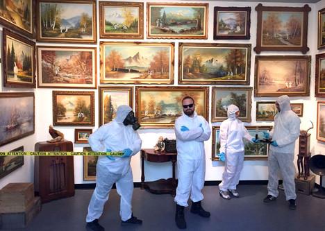 Adornato's solo exhibition 'I've Got Some Bad News' at The Ottawa Art Gallery in 2016.