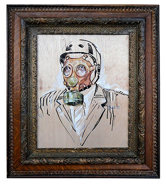 """""""Portrait of the Dystopian Cyclist"""" by Stephen Frew."""
