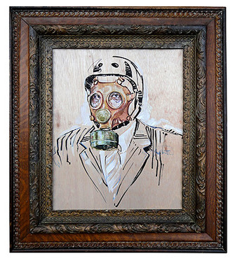 """Portrait of the Dystopian Cyclist"" by Stephen Frew."