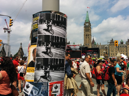 Posters around Ottawa on Canada Day.