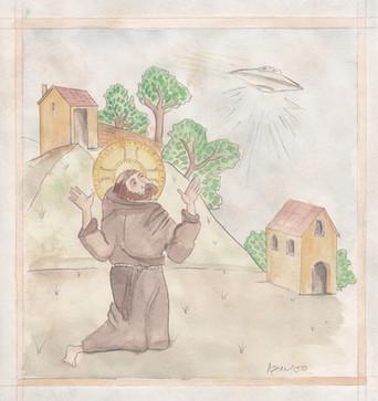 Saint Francis fears the stigma of witnessing a UFO (study)