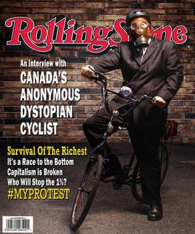 Fake news Rolling Stone cover. Photo snapped by Jamie Kronick.