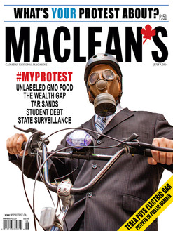 Fake News MACLEANS cover. Photo by Jamie Kronick.