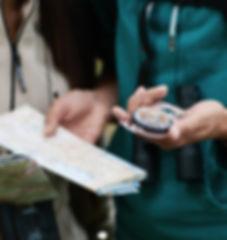 Boussole et carte