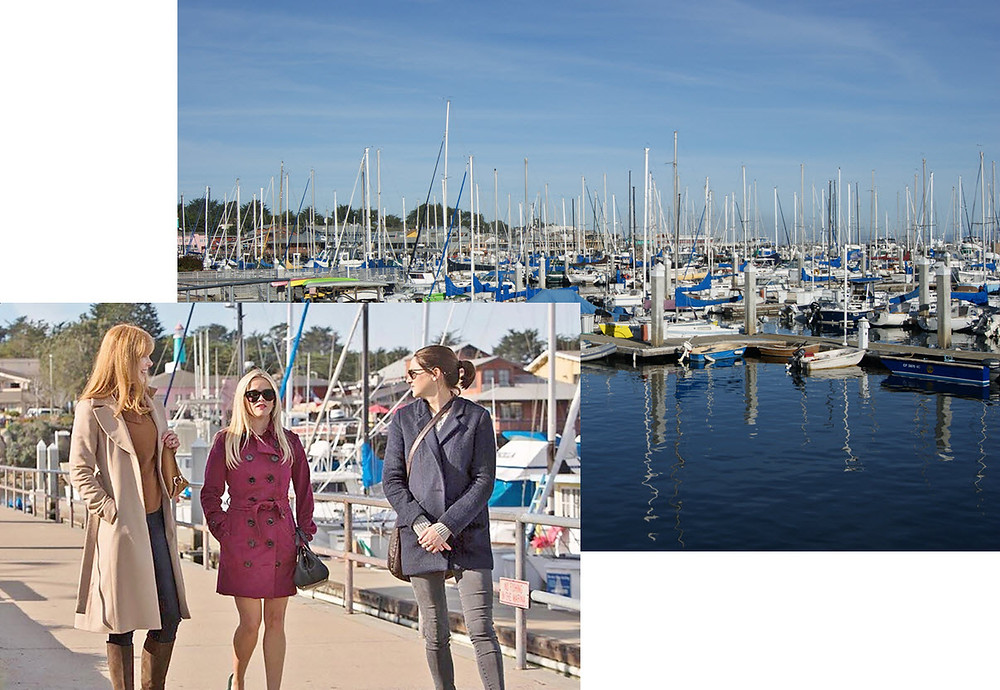 Big Little Lies characters walk along Monterey waterfront, close to #JewelboxCottages