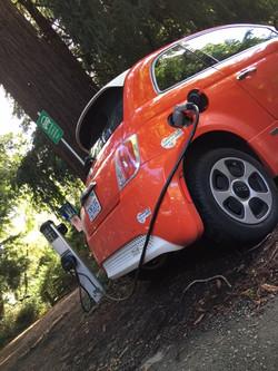 Fiat Electric Car Charging