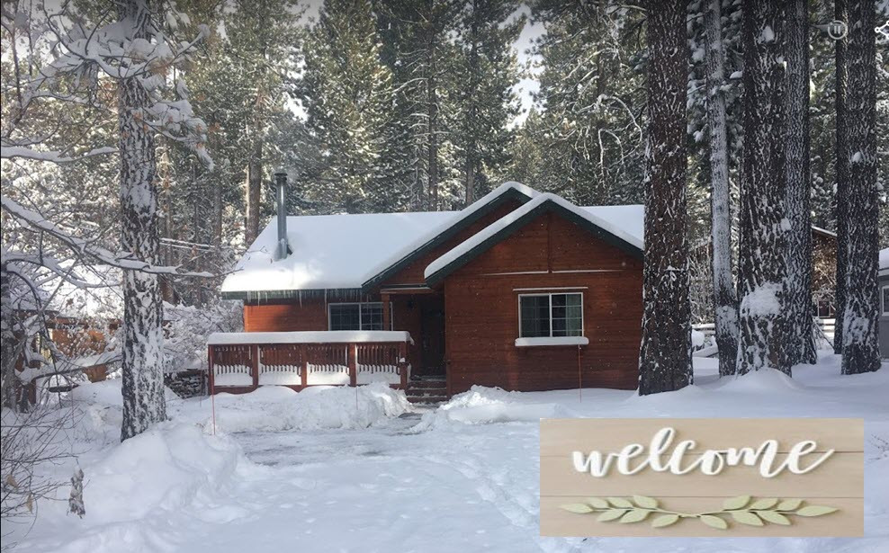 Donner Bliss Cabin in the Snow