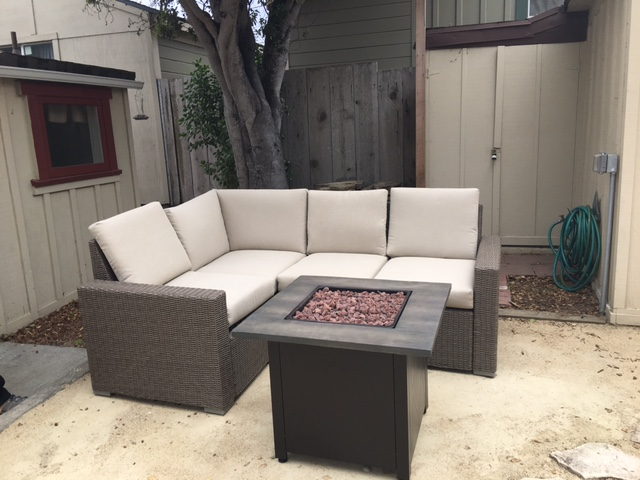 Courtyard, Fire Pit and Lounge Set