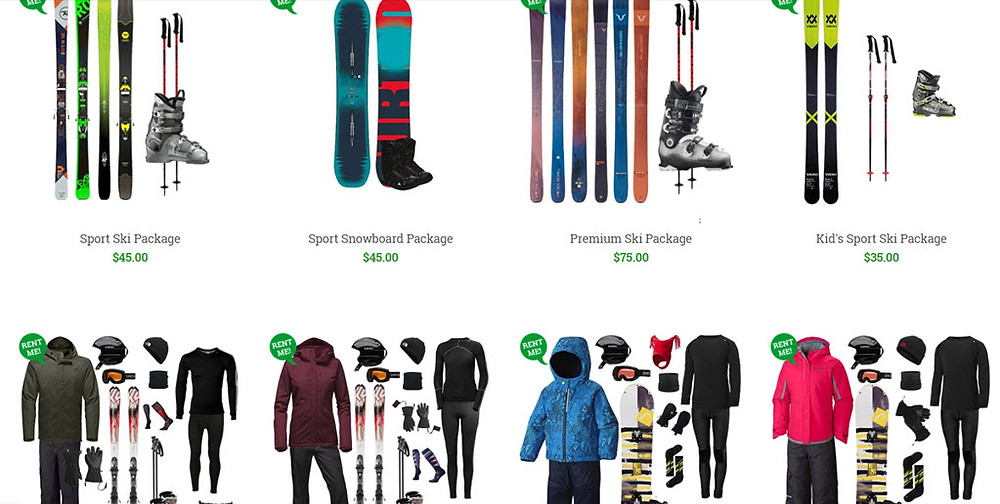 Snowboard and Ski Rental Recommendations