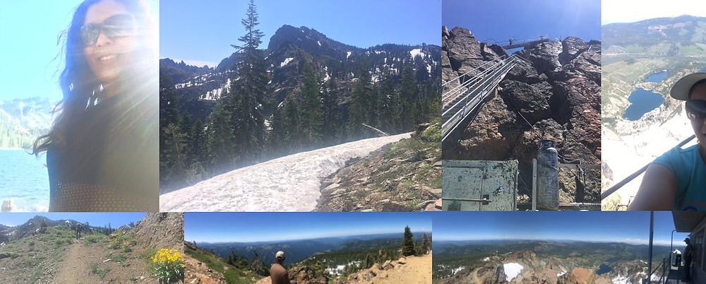 Mel hiking Sierra Buttes, via Donner Bliss