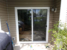 Slidng door replaced for a client in Salt Lake City