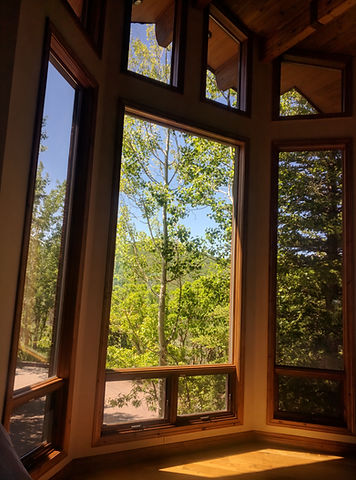 Large picture window we repalced the glass in Deer Valley, Park City, Uta
