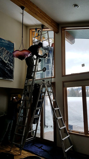 Large trpaezoid we are replacing in Park City, Utah using our self designed gass lift