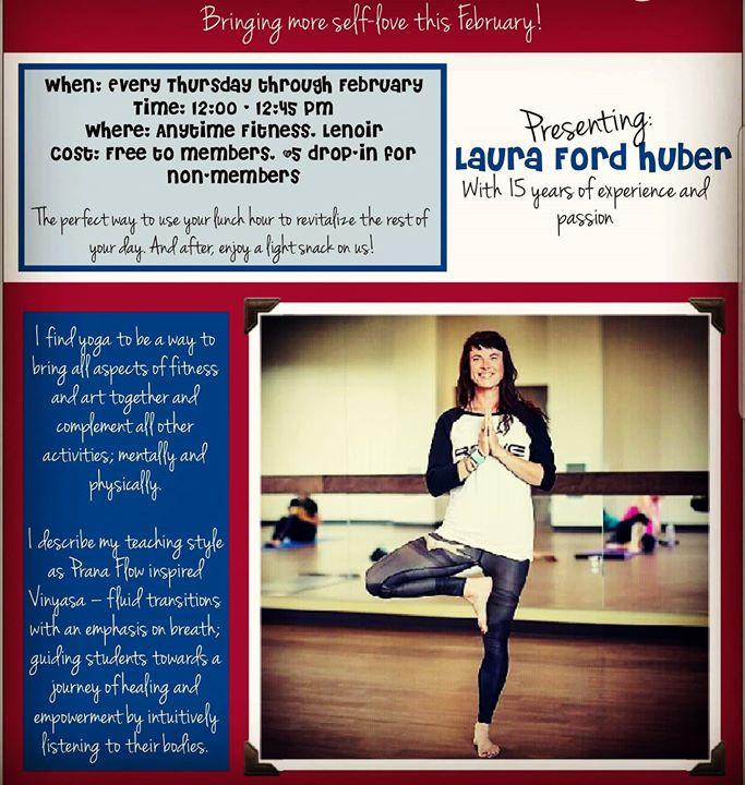 Anytime Fitness. Thursday 12-12:45 - February
