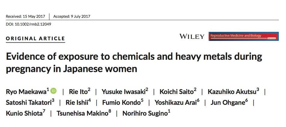 metais pesados em japoneses