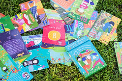 Enchanted Wonders A-Z Cards on Grass