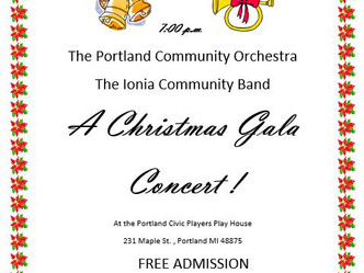 Portland Community Orchestra Christmas Concert December 16th
