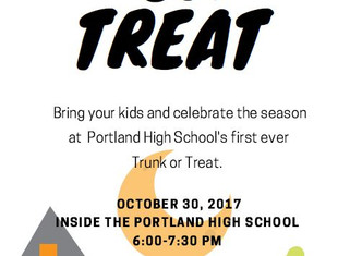 Trunk or Treat Event at Portland High School
