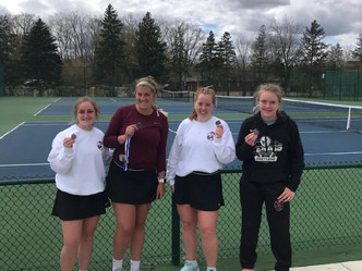 Raider Varsity Girls Tennis opens season with tough Rochester Quad