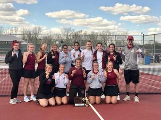 Portland Varsity Tennis Repeats as CAAC-White Champions