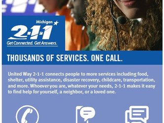 United Way 2-1-1 Returns to Montcalm and Ionia Counties