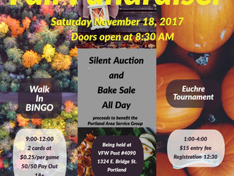 PASG Fall Fundraiser This Saturday