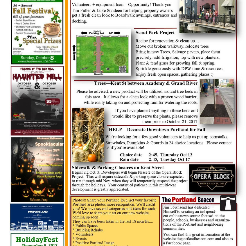 Mainstreet Newsletter October 2017 page 2 of 2