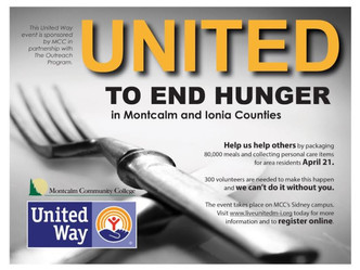 UNITED TO END HUNGER - April 21st