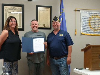 American Legion Post 129 Recognizes Chad and Mary Rose Teachout