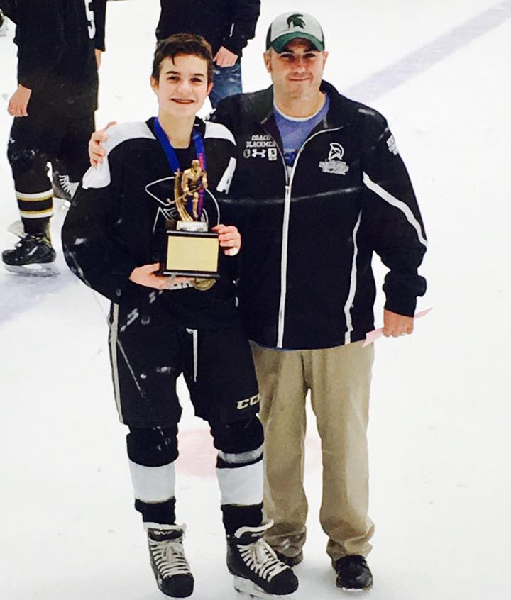 Head Coach Eric Blackmer and son Evan Blackmer