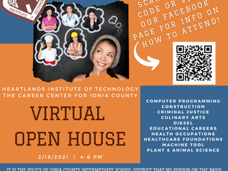 Heartlands Institute of Technology - Virtual Open House Invitation