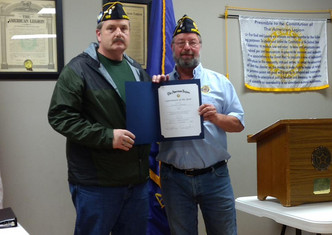 "Richard Bushong named American Legion ""Member of the year"""