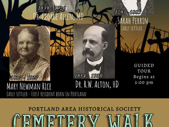 PAHS Cemetery Walk set for October 24th