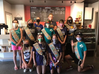 Girl Scout Troop donates trees to community