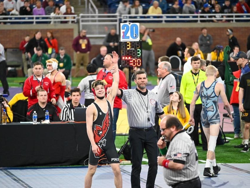 Caiden Pelc - Wrestling States 2