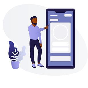 Black Man _ Woman Using Mobile Phone C.j
