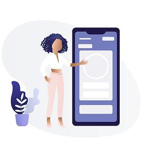 Black Man : Woman Using Mobile Phone E.j