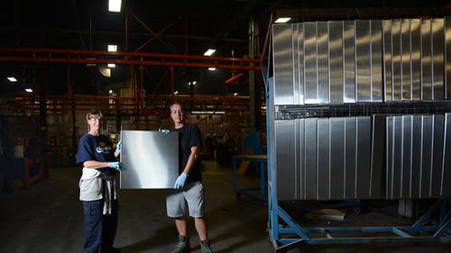 Raw aluminum panels