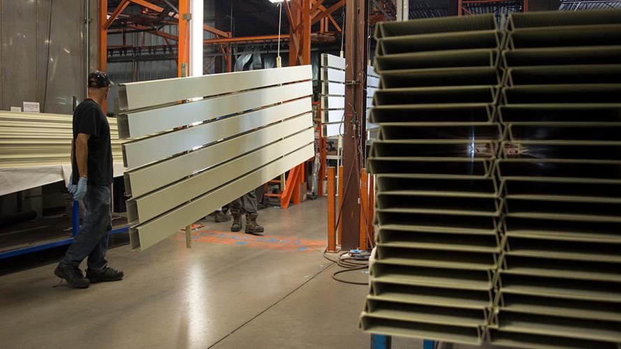 Aluminum panels ready for sublimation