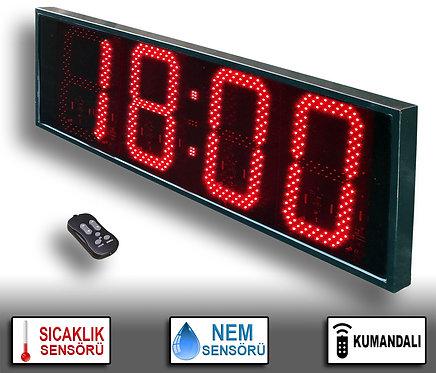 NEM Sıcaklık Saat (İç/Dış Mekan Saat) 38cm x 113cm (Rakam Yük. 30cm) Kumandalı