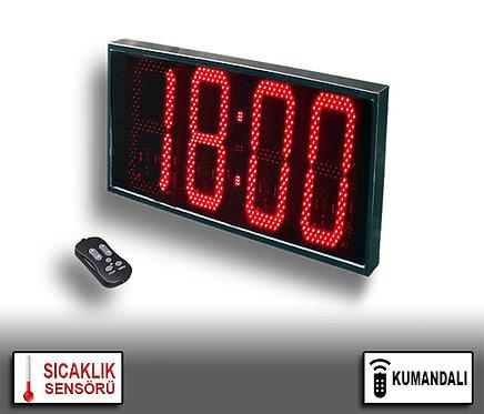 LED Dijital Saat (İç/Dış Mekan Saat) 36cm x 71cm (Rakam Yük. 32cm) Kumandalı