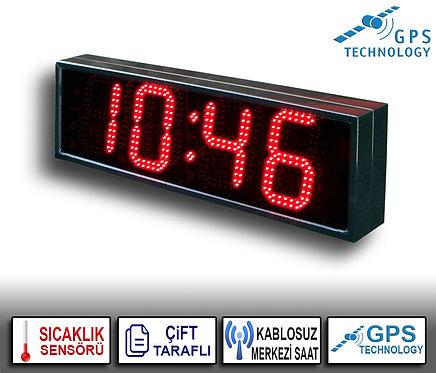 MERKEZİ Çift Taraflı Dijital Saat (İç/Dış Mekan) 21cm x 72cm (Rakam Yük. 16cm)