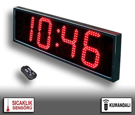 LED Dijital Saat (İç/Dış Mekan Saat) 20cm x 71cm (Rakam Yük. 16cm) Kumandalı