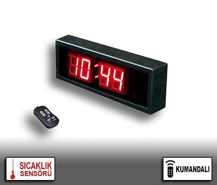 LED Dijital Saat (İç/Dış Mekan Saat) 10cm x 31cm (Rakam Yük. 4,5cm) Kumandalı