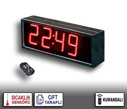 ÇİFT TARAFLI Dijital Saat (İç/Dış Mekan Saat) 21cm x 40cm (Rakam Yük. 15cm)