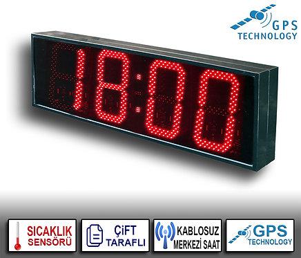 MERKEZİ Çift Taraflı Dijital Saat (İç/Dış Mekan) 39cm x 114cm (Rakam Yük. 30cm)
