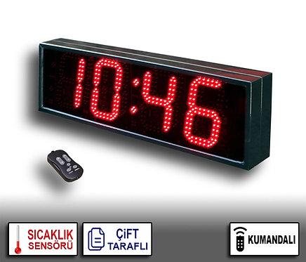 ÇİFT TARAFLI Dijital Saat (İç/Dış Mekan Saat) 21cm x 72cm (Rakam Yük. 16cm)