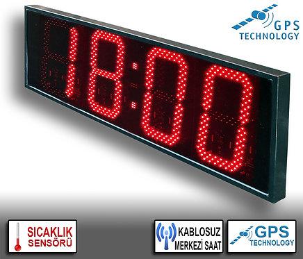 MERKEZİ Dijital Saat (İç/Dış Mekan) 38cm x 113cm (Rakam Yüksekliği 30cm)